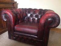 Beautiful Ox blood Leather Chesterfield Club Chair