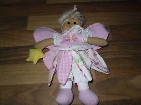 POWELL CRAFT 20cm rag doll 100% COTTON VARIOUS STYLES NEW fairy