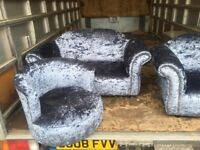 3 pieces children's crushed velvet sofas £199