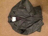 Woman's Grey Leather Jacket
