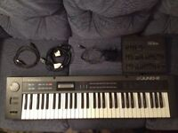 Roland Alpha Juno 2 & PG-300 controller (Rare) Vintage Synth Synthesizer