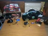 2rc cars and rc boat.