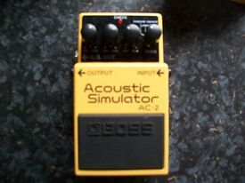Boss AC-2 Acoustic Simulator effects pedal