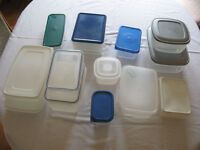 A mixed selection of tuperware style containers.