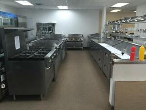 COMMERCIAL KITCHEN RESTAURANT EQUIPMENT, NOT USED, BRAND NEW SINGLE, DOUBLE GLASS DOOR COOLERS, FREEZERS, PREP TABLES