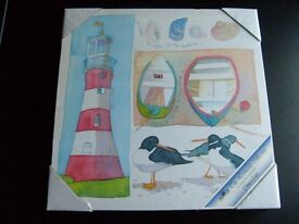 Seaside images on canvas frame. - PRICE REDUCED