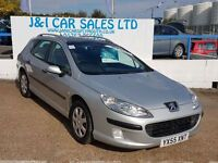 PEUGEOT 407 1.6 SW S HDI 5d 108 BHP www.jandicarsplymouth.co.u (silver) 2005