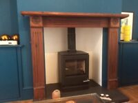 Victorian design cherry stained fire surround, good condition