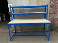 job lot super heavy duty industrial work benches ( storage , pallet racking )