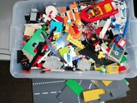 Big Boxes of Lego, mixture of figures, sets and base plates