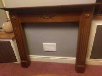Wood Effect Fireplace Surround Mantel