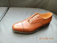 LOAKE 1880 CADOGAN TAN CALF LEATHER OXFORD BROGUES [SIZES 8-9-10 AVAILABLE]