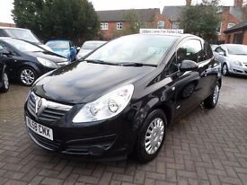 Vauxhall Corsa 1.2 i 16v Life 3dr 2008 (58 REG) BLACK, ONLY 74000 MILES WITH SERVICE HISTORY