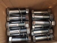 HEXAGON HEAD BOLTS M20 X 90mm INCLUDED NUT & WASHER