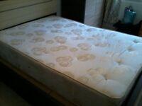 king size sprung mattress plus 2 free cupboards!!!!!