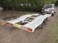 GALVANISED STEEL 12-6 X 6-1 (2600KG) VEHICLE TRANSPORTER TRAILER.....