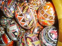Beautifully hand decorated REAL Hens Eggs - Ideal for Easter.
