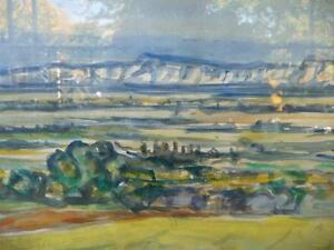 "Heinrich Waser "" Panoramic Landscape"" 1961 Original Watercolor Stratford Kitchener Area image 3"