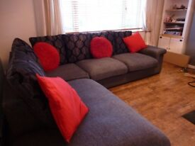 Large Charcoal and Grey corner sofas. excellent condition, on, cost over £2000