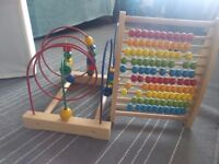 2 wooden toys
