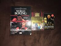3 BOOKS FOR SALE, HIGH SCHOOL MUSICAL, BOXING, LEE CHILD