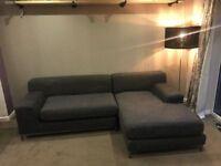 IKEA GREY CORNER SOFA - MUST GO TODAY TOMORROW- CHEAP DELIVERY - £210