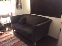 FREE Brown fabric sofa on collection or £40 local delivery in Peckham
