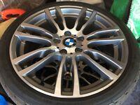 BMW original alloys + run flat tyres