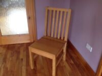 Handmade Solid Oak Chair new