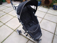 Baby Buggy Model PETITE STAR 'Zia-Z', black and detachable buggy board