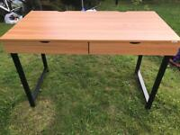 table with 2 drawers