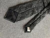 Gieves&Hawkes Grey Wool Tie