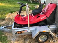 Plant trailer and ride on mower