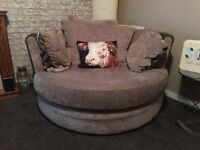 DFS 3 seater sofa and cuddle chair (can deliver)