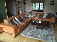 Large Leather Corner Sofa - Rairly Used