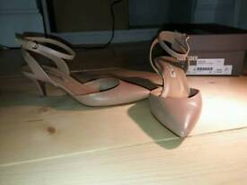 Nude pink Julie Dee, full leather, high quality shoes