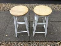 Solid pine stools