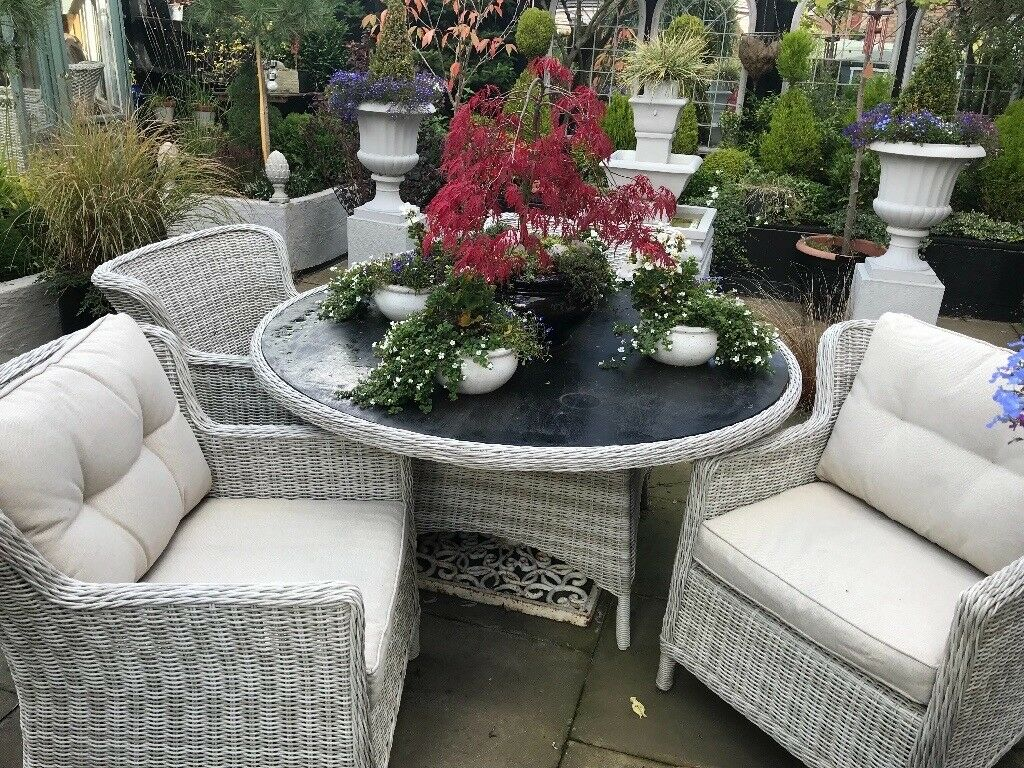 Beautiful wicker garden furniture