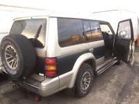 Mitsubishi shogun pajero jeep spare parts breaking leather 7 seats lights doors