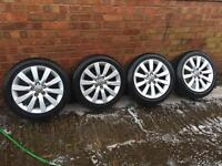 """Set of 4 16"""" Audi alloy wheels with tyres"""
