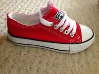 Never worn kids red converse
