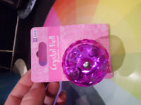 pink crystal bike bell