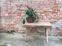 Butchers Block Table Chunky Furniture, Side Board Antique Heavy Timber 150 yrs