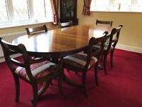 Mahogany dining table ( nearly new) and 6 chairs