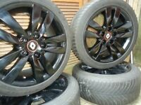 17x4 BLACK Alloys Wheels and WINTER tyres Will Fit Renault trafic/vivaro VW T5-T6