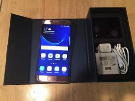 Samsung Galaxy S7 edge 32GB, unlocked, pink rose, grade A, one week old.