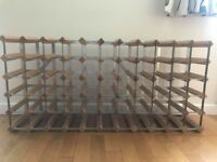 Wine rack - holds 55 bottles