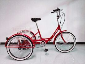 """Adults trike, folding frame, 24"""" wheels, 6-speed shimano gears, SCOUT , various colours"""