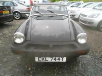 MG MIDGET 1500 ROCK SOLID UNDERNEATH, NICE WEE CONVERTIBLE MIDGET IN BLACK GOOD MOT. (black) 1979