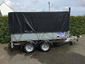 Ifor Williams LM85 trailer complete with Mesh Kit, Ladder Rack, Prop Stands, Ramps, Liner & Cover